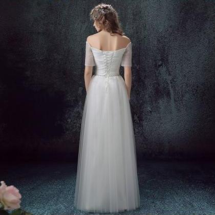 White Wedding Dress ,Tulle Wedding ..