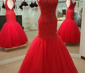 Sexy Red Prom Dress,..