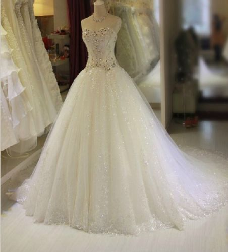 Princess Wedding Dress, Bridal Gown,Long Wedding Dress,Tulle Bridal Dress, Mermaid Bridal Wedding Dress,Custom Made Wedding Dress