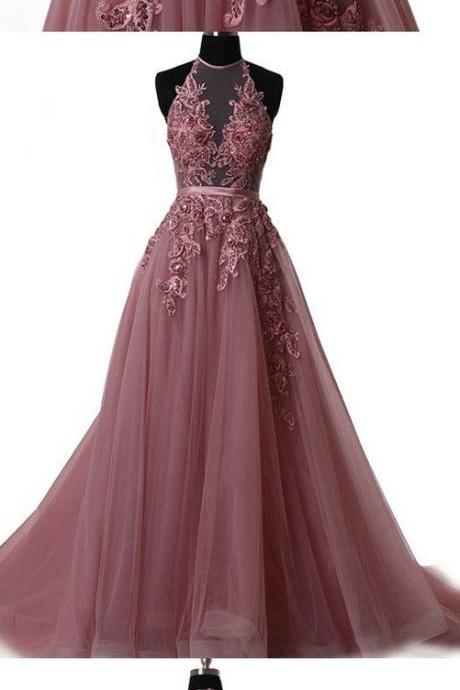 Elegant Tulle Lace Dress,Long Prom Dress, Lace Evening Dress,Tulle Homecoming Dress, Prom Dress,Sweet Dress,Formal Dress,Lace Evening Dress
