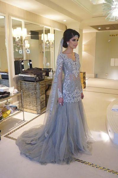 Charming Prom Dress,Appliques Prom Dress, Tulle Prom Dress,Long-Sleeves Prom Dress,New Sweethearts Dress