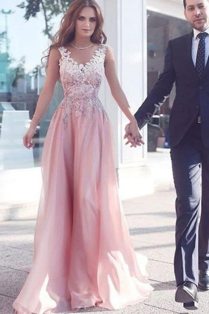 Pink V neck Lace Dress, Long Prom Dress, Pink Formal Dress,Tulle Prom Dress,Evening Dress,Formal Dress,Party Dress,Sweetheart Dress,Custom Made