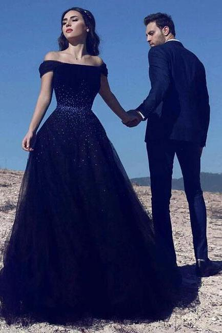 Sexy Prom Dress,Navy Blue Prom Dress,Tulle Prom Dress,Cheap Prom Dress,Long Prom Dress, Blue Evening Dress,Formal Party Dress