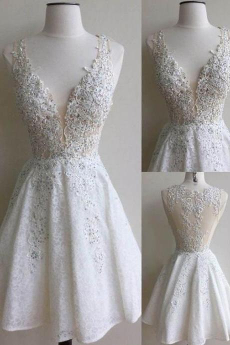 Sexy Short Prom Dress, Homecoming Prom Dress,Lace Appliques Prom Dress,High Quality Prom Dress,Elegant Women Dress, Custom Dress