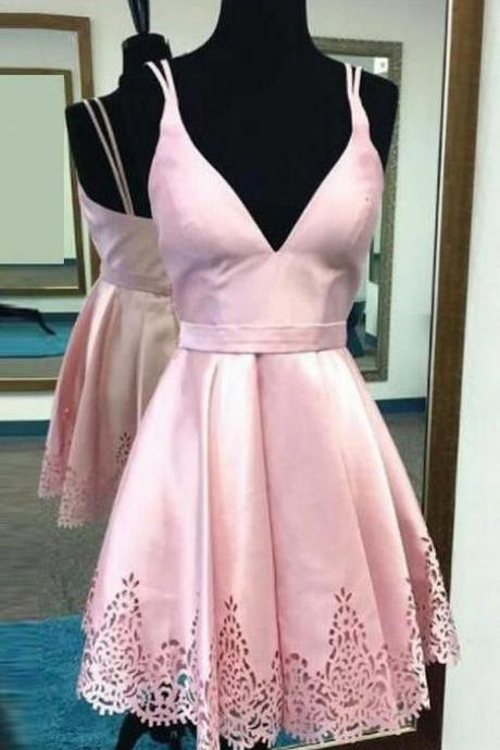 Pink Prom Dresses, Cute Prom Dresses, Prom Dresses Short, Short Pink Prom Dresses, Homecoming Dresses Short, Pink Homecoming Dresses, Cute Short Prom Dress