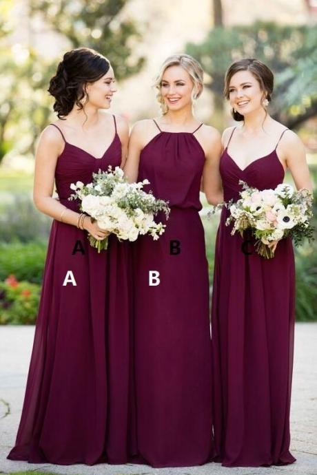 Simple Bridesmaid Dress,Cheap Bridesmaid Dress,Chiffon Bridesmaid Dress,Wedding Party Dress,Custom Dress