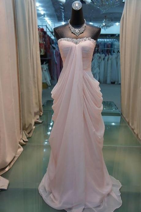 High Quality Prom Dress, Chiffon Prom Dress, A-Line Prom Dress, Strapless Prom Dress, Sequined Prom Dress,Custom Prom Dress