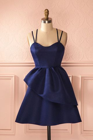 Navy Homecoming Dress,Simple Evening Dress,Short Sexy Party Dress,Charming Prom Dress,Short Prom Gowns, Junior Prom Dress,Custom Dress